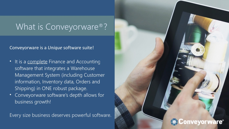 What is Conveyorware?