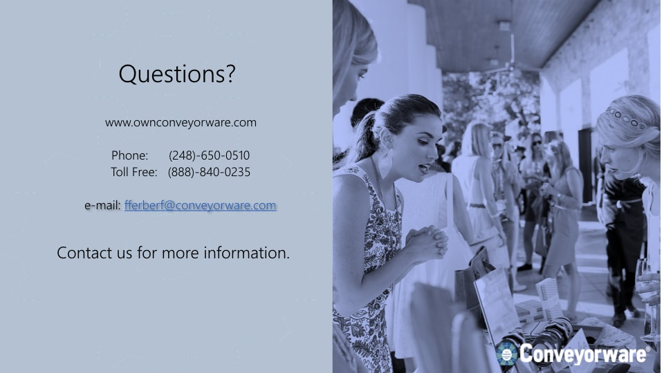 Questions? Contact us for more information.